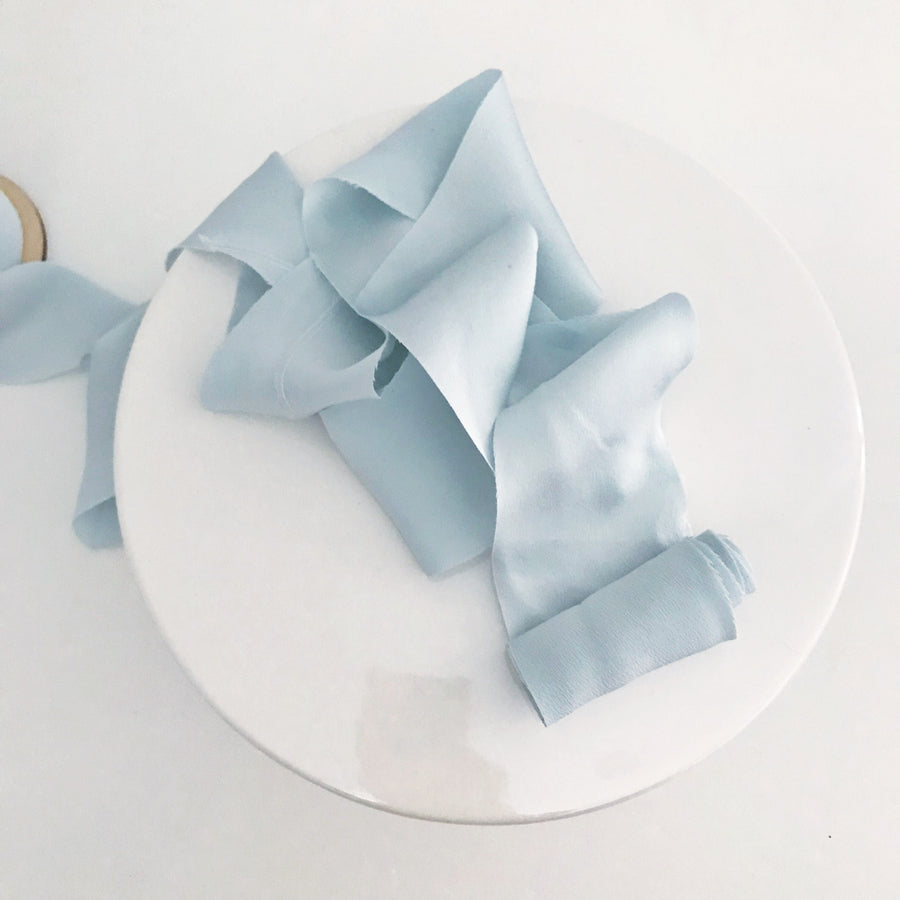 Pale Blu - Dual Texture Luxury Ribbon