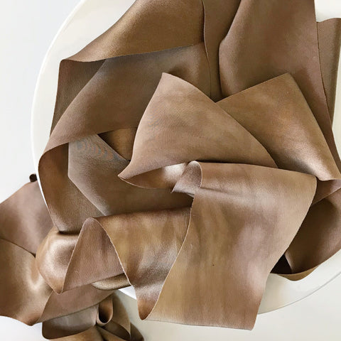 Copper {Slightly Marbled} - Luxury Silk Ribbon By the Yard