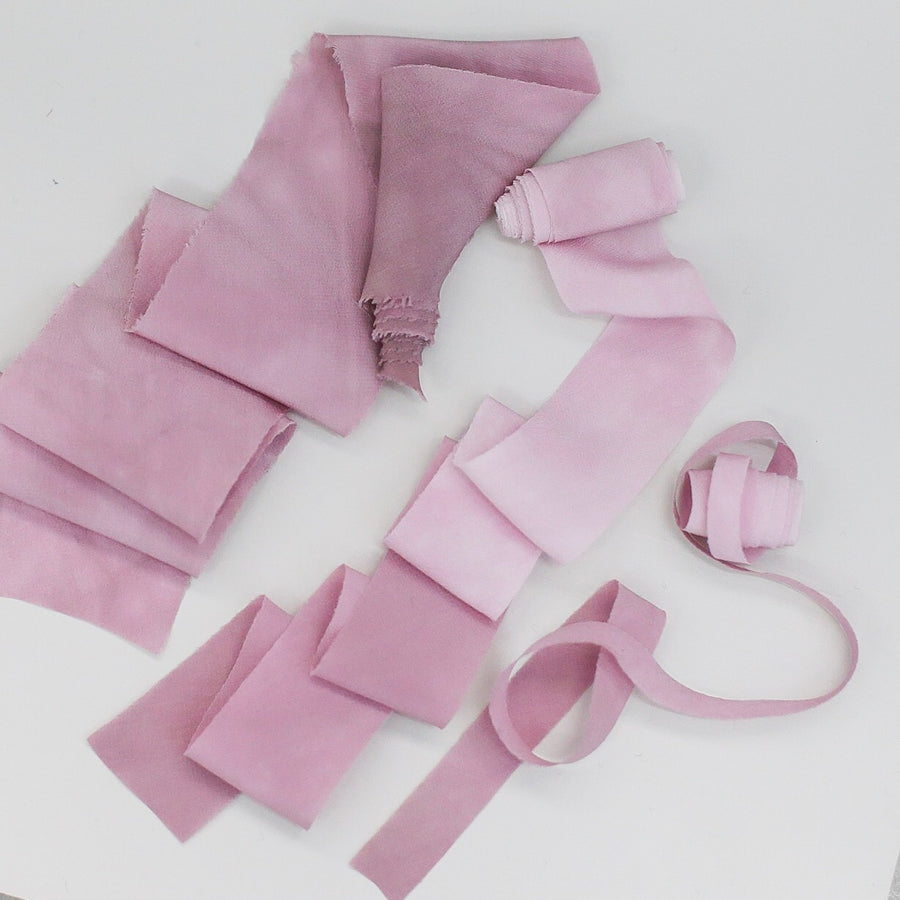 Pink Lavender Ombre - Luxury Silk Ribbon By the Yard