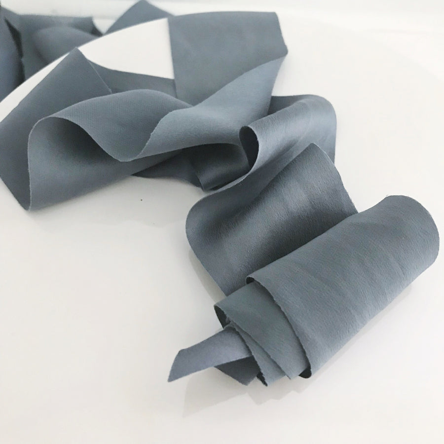 Smoke Blue - Dual Texture Luxury Ribbon