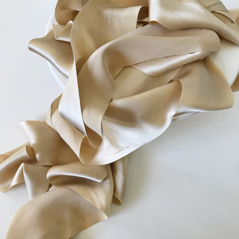 Pale Gold - Luxury Silk Ribbon By the Yard