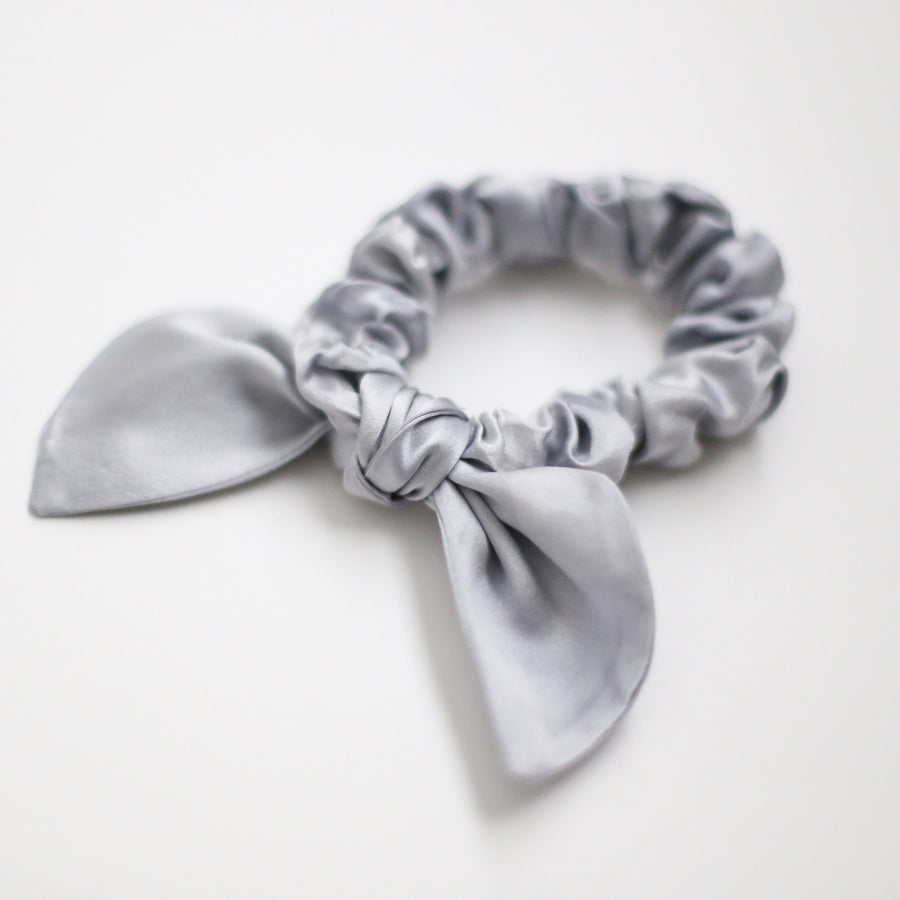 25mm Hand Dyed Silk Scrunchies - Mist Blue