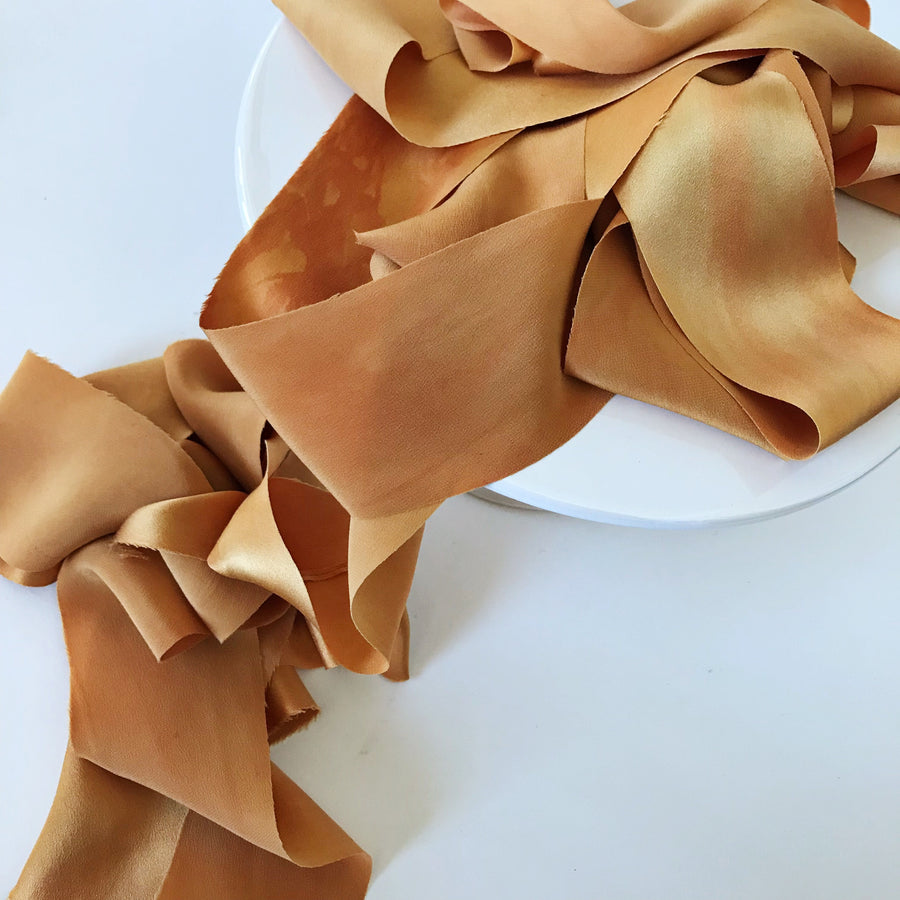 Marigold - Luxury Silk Ribbon By the Yard