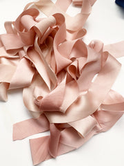 Signature Variegated Blush - Luxury Silk Ribbon By the Yard 12mm