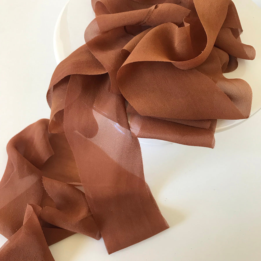 Rust - {SHEER} Chiffon Luxury Ribbon