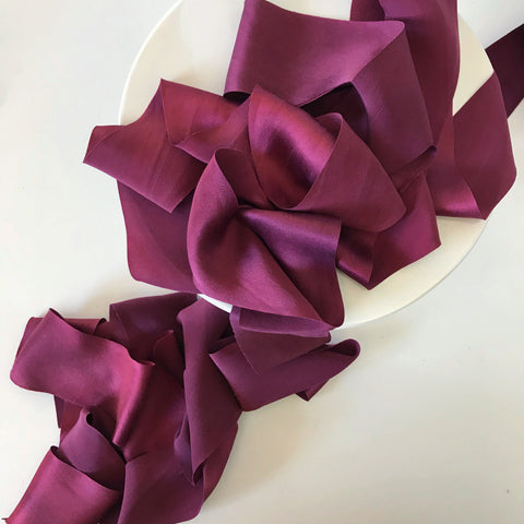 Merlot - Luxury Silk Ribbon By the Yard