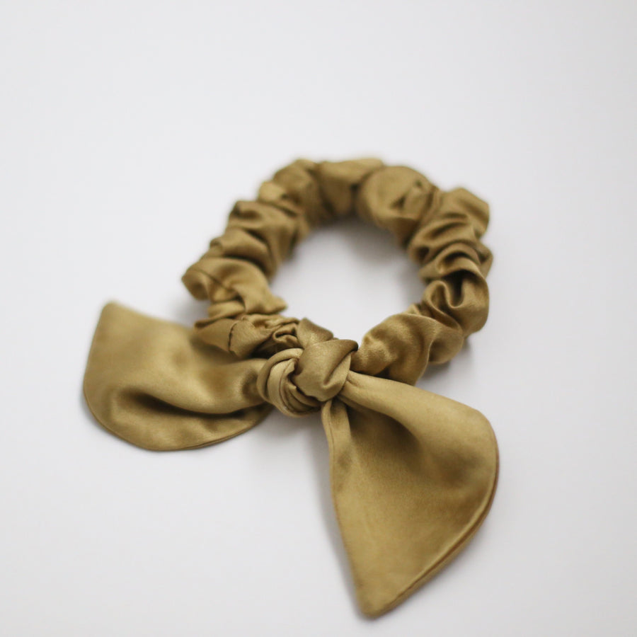 25mm Hand Dyed Silk Scrunchies - Golden