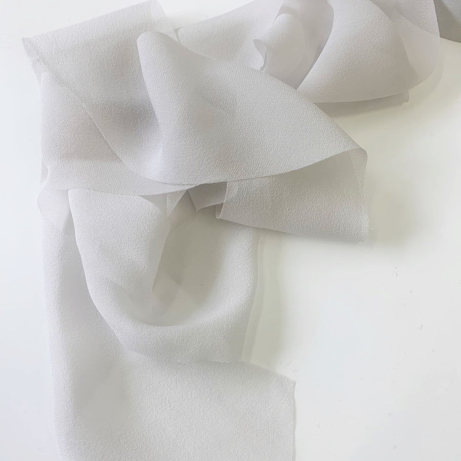 Pale Pewter - {SHEER} Chiffon Luxury Ribbon