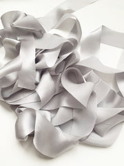 True Gray - Luxury Silk Ribbon By the Yard 12mm