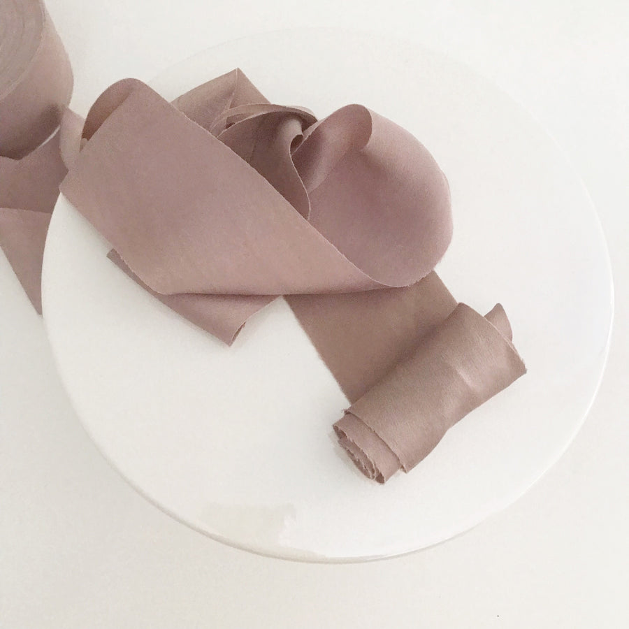 Smoke Blush - Dual Texture Luxury Ribbon