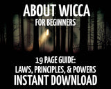About Wicca: for Beginners