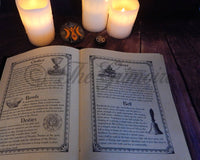 280 Page Handmade Leather Book of Shadows with All Original Designs