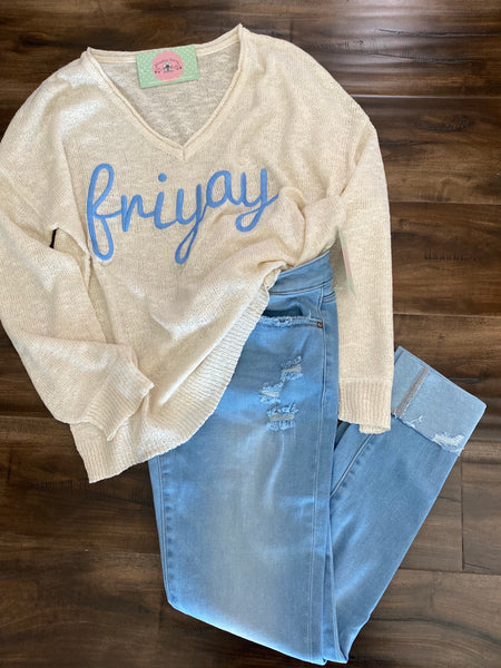 Danica Friyay V-neck Sweater