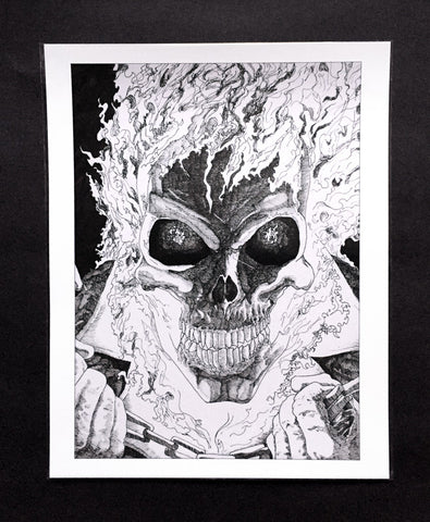 Art Print featuring 'Ghost Rider' by James Vani