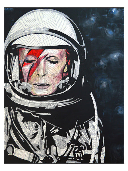 Art Poster featuring Lyneth Morgan's 'David Bowie'