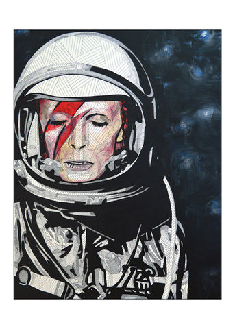 Mini Print featuring 'David Bowie' by Lyneth Morgan