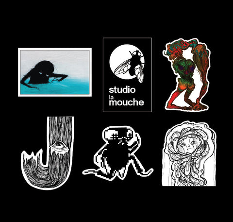6-Piece Sticker Pack Alpha