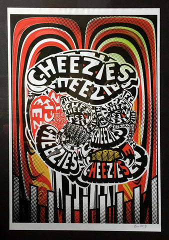 Limited Edition Test Print featuring 'Cheezies' by Ben van D