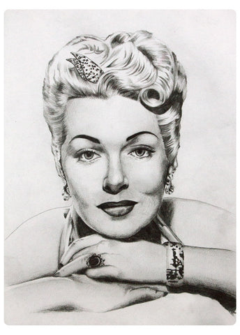 Lana Turner - Original Artwork by Elli Merkis