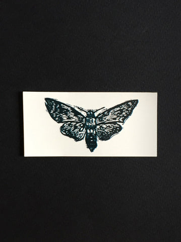 Temporary Tattoo featuring 'Death's Head on a Moth' by Melissa Blackman