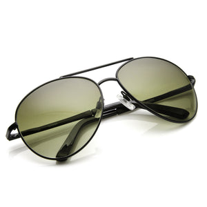 Large Round Full Metal Aviator Sunglasses 1373 58mm