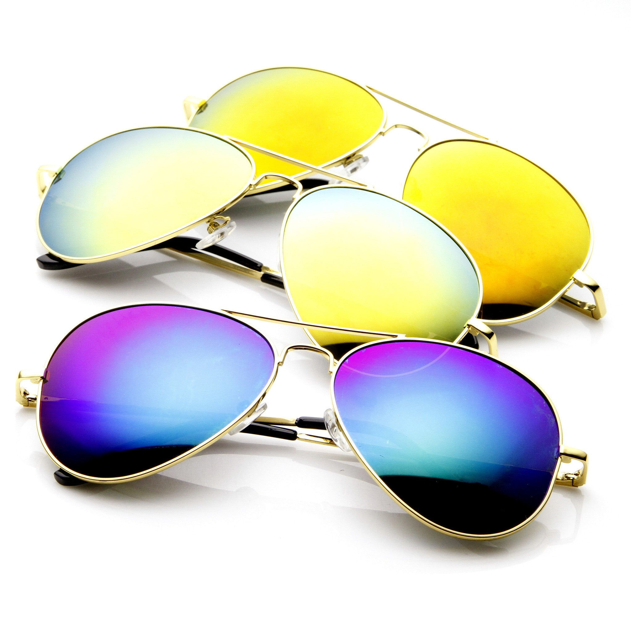 516f53e33ce Limited Edition Zerouv Full Gold Frame With Revo Mirrored Lens 1486  Sunglasses  3 Pack  No reviews  17.95  29.97