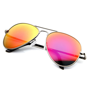 Premium Retro Metal Frame Flash Revo Mirrored Lens Aviator Sunglasses 1488