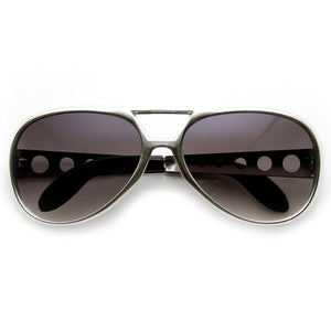 Retro Large Elvis King Of Rock and Roll Aviator Sunglasses 2203