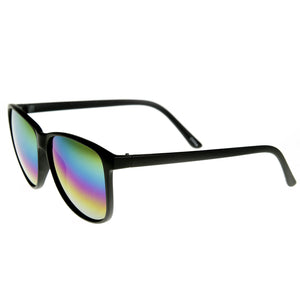 Retro Fashion Revo Color Mirrored Lens Large Horned Rim Sunglasses 8949
