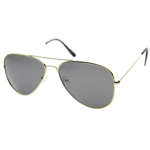Oversize Polarized Lens Metal Aviator Sunglasses 9343