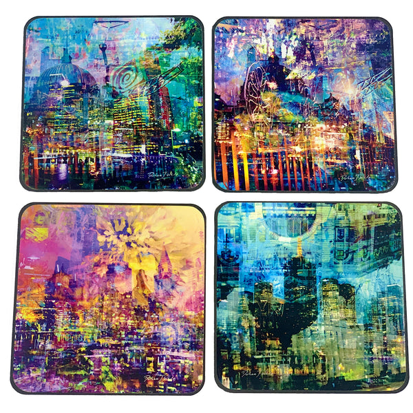 Melbourne Alive 2019 4pc Coasters