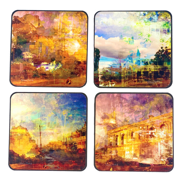 Historic Piper Street Kyneton 2019 4pc Coasters