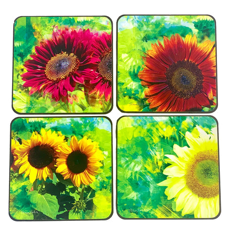 Sunflowers and Lime 2019 4pc Coasters