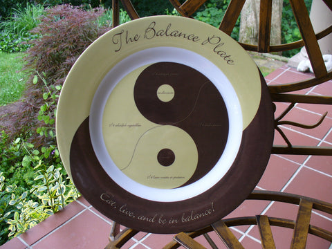 The Balance Plate - Yin Yang Design - ON SALE NOW FOR $7.95!