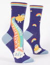 Blue Q - Shitting Rainbows Kind of Day Women's Socks, socks, Blue Q - Say It Sister
