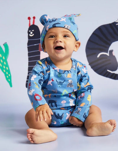 Halcyon Nights - ABC of Animals Twilight Baby Hat - Say It Sister