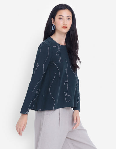 Elk - Madlen Top Seaweed/Blush, Top, Elk - Say It Sister