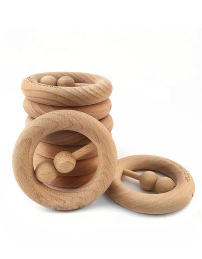 Beech Wood Baby Rattle, baby, My Little Giggles - Say It Sister
