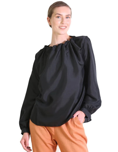 Olga de Polga - Da Vinci Blouse Black - Say It Sister