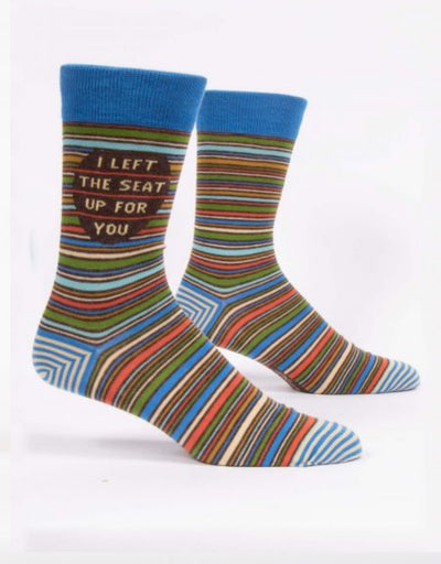 Blue Q -  I Left The Seat Up For You M-Crew Socks, socks, Blue Q - Say It Sister