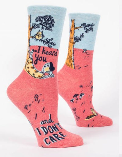 Blue Q - I Heard You and I Don't Care W-Crew Socks, socks, Blue Q - Say It Sister