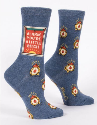 Blue Q - Alarm, You're A Little Bitch W-Crew Socks, socks, Blue Q - Say It Sister