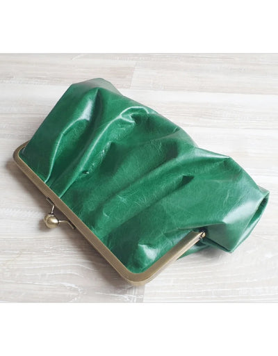 Moy - Emerald Pleated Leather Clutch, bag, Moy - Say It Sister