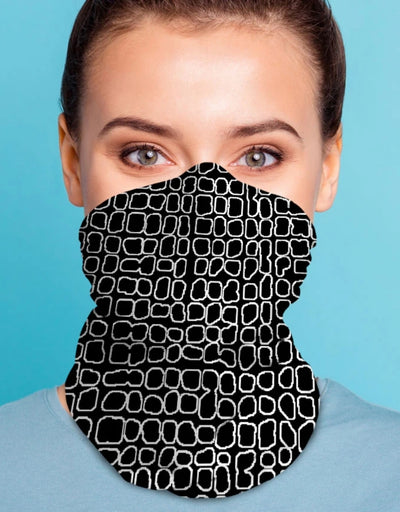 Face Scarf - Grid Black, Face Mask, Kover - Say It Sister