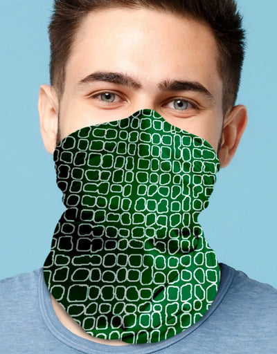 Face Scarf - Grid Emerald, Face Mask, Kover - Say It Sister