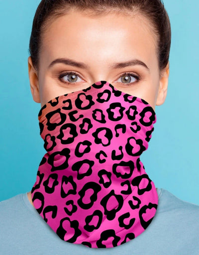 Face Scarf - Leopard Pink - Say It Sister