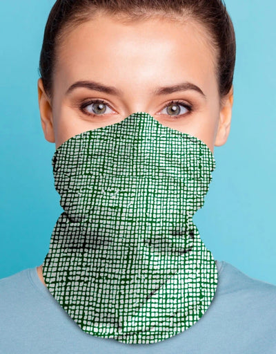 Face Scarf - Kanvas Emerald, Face Mask, Kover - Say It Sister