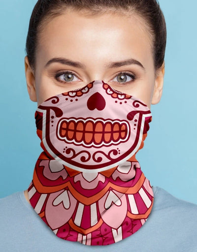Face Scarf - Day Of The Dead Pink - Say It Sister