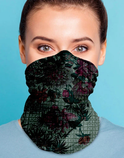 Face Scarf - Embossed Floral Pine - Say It Sister