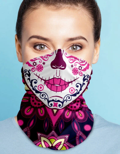 Face Scarf - Femme Fatal Pink/Navy - Say It Sister